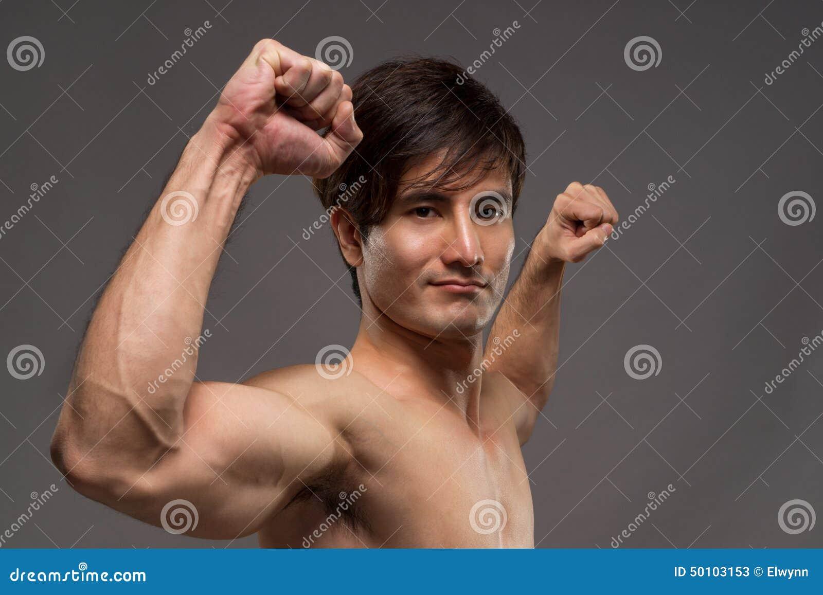 power Asian man