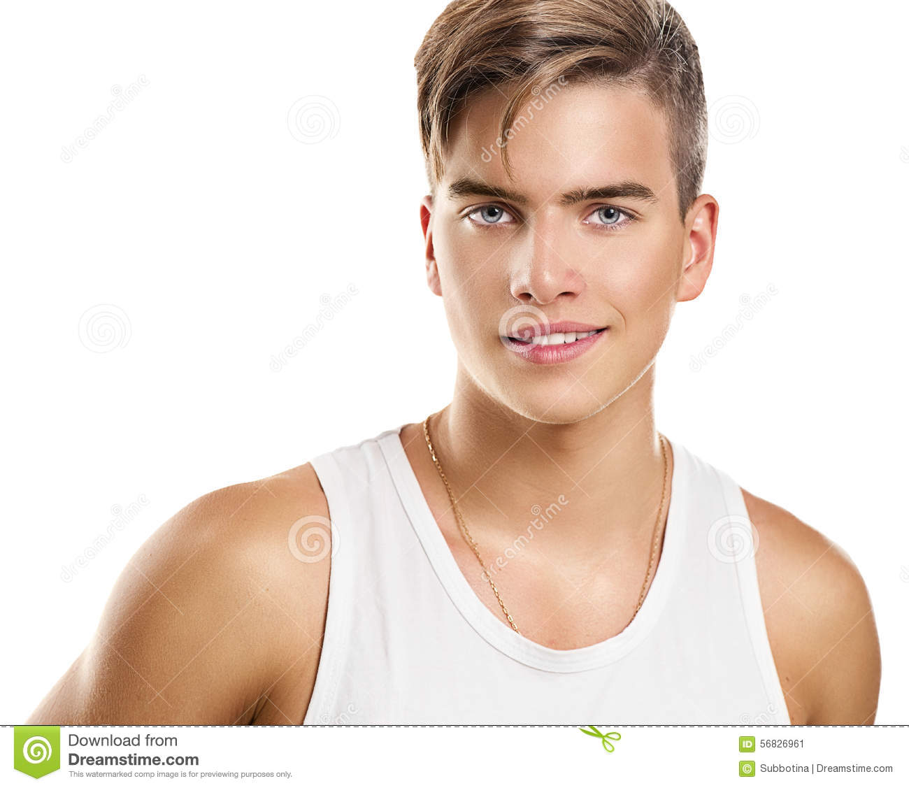 Download Handsome Athletic Young Man Stock Image - Image of athletic, muscular: 56826961