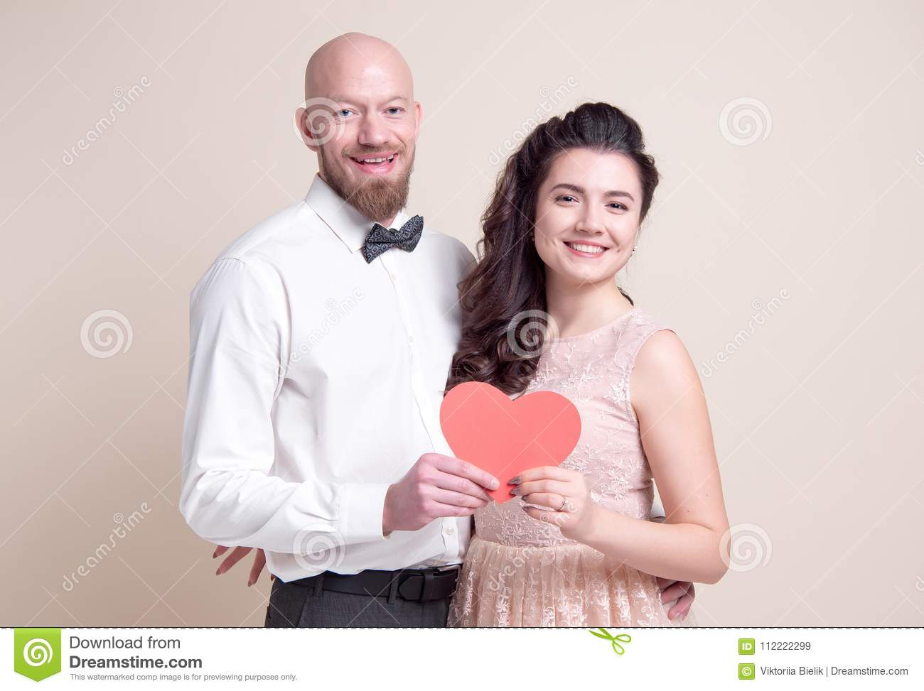 Dating a bald man holding