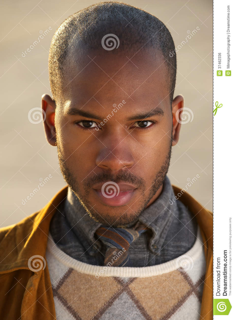 Handsome Black Male Fashion Model Royalty Free Stock Image