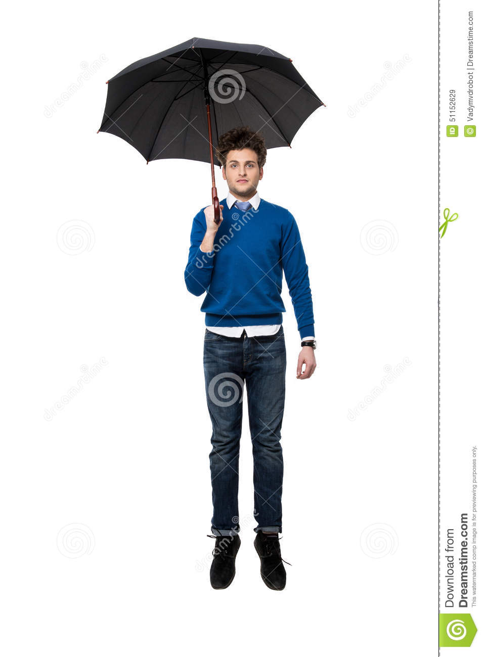 Businessman Man Under The Dome, Which Protects Him From ...