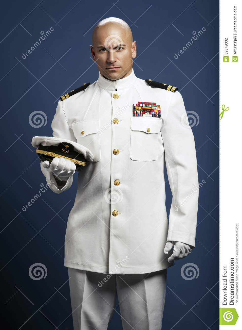 Handsome Captain Sea Ship Stock Photo Image 39849002