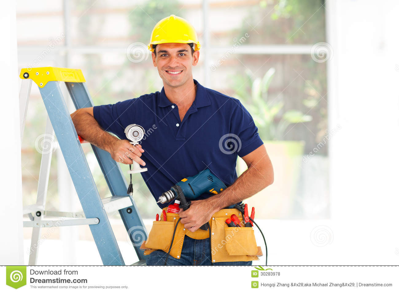 Cctv guy royalty free stock photos image 30283978 for Security camera placement tool