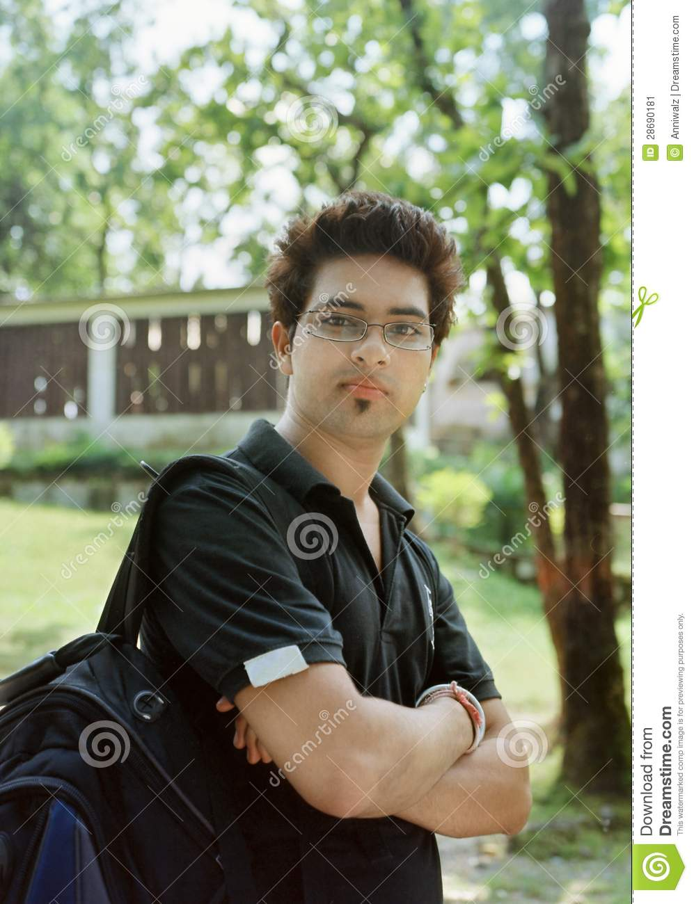 Handsome College Student Stock Image Image 28690181