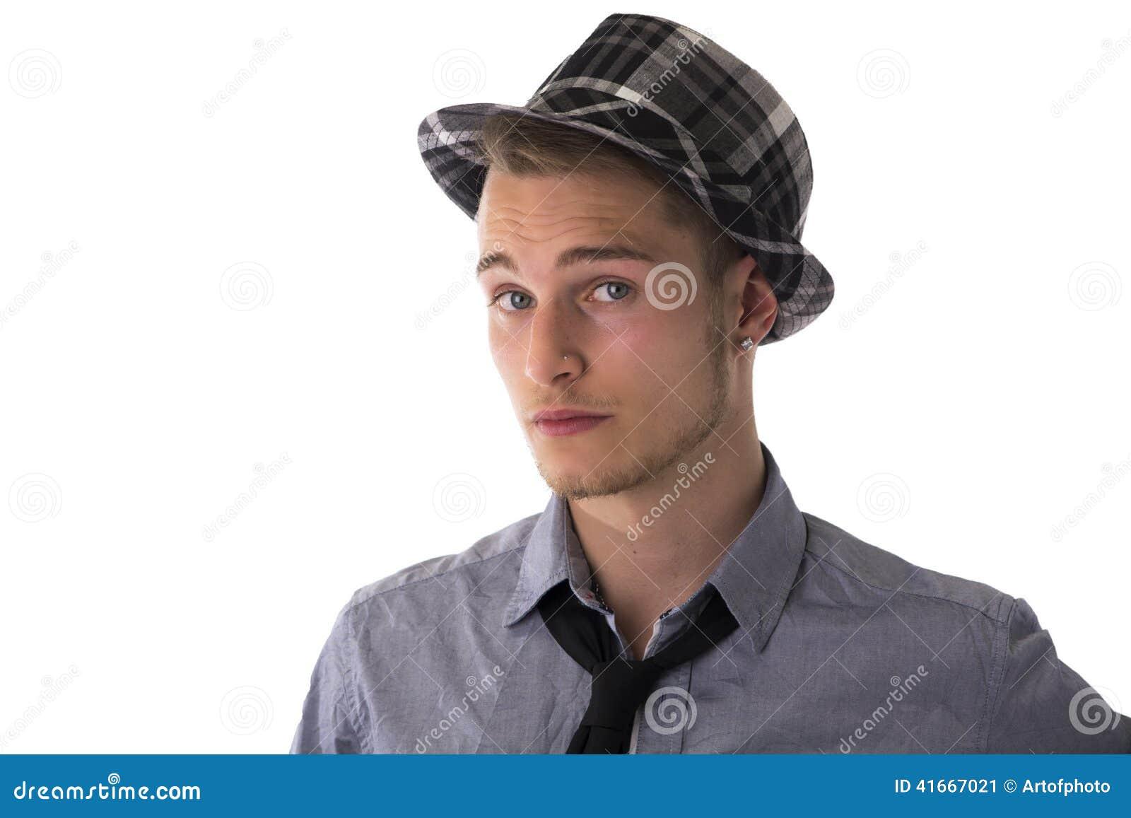 Man Wearing Fedora Royalty-Free Stock Photography ...