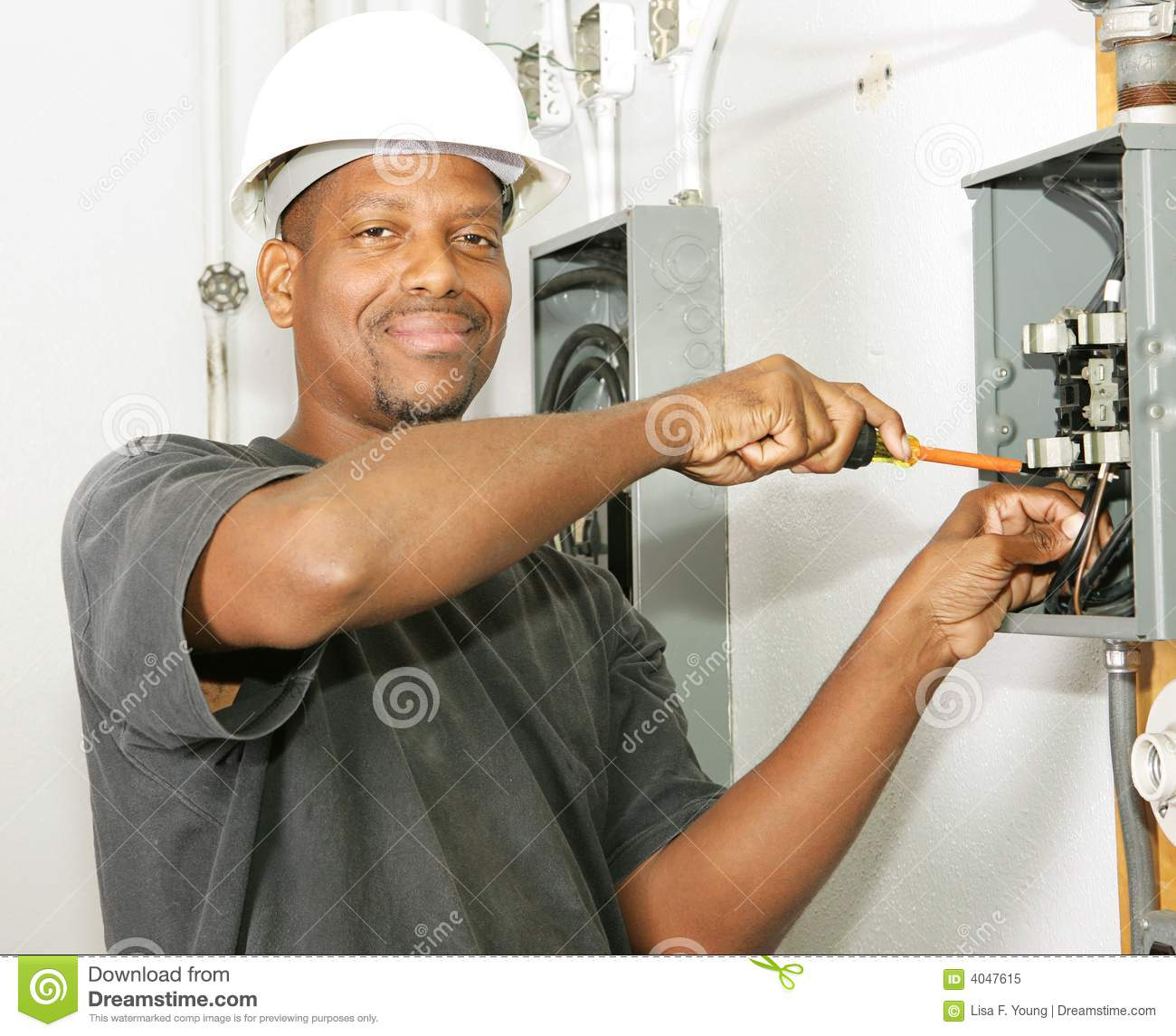 Handsome Electrician Stock Image Image Of Copper