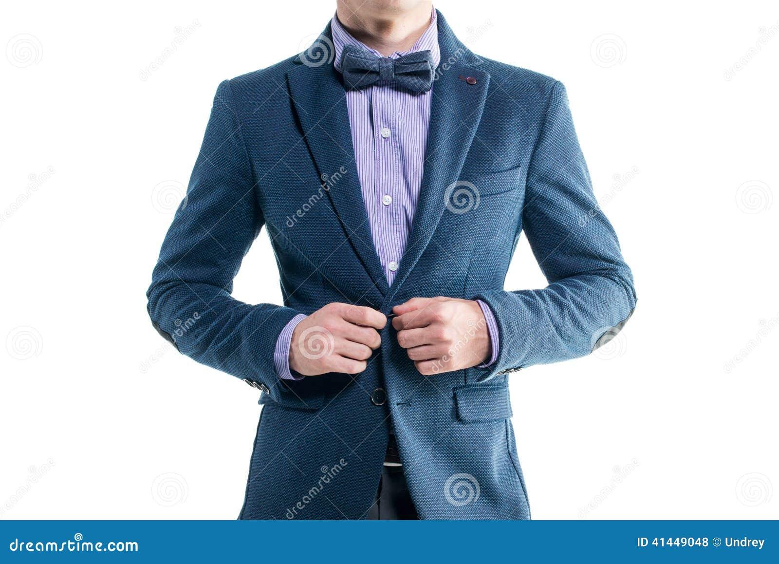 Handsome Elegant Young Fashion Man In Coat Tuxedo Stock Photo 41449068