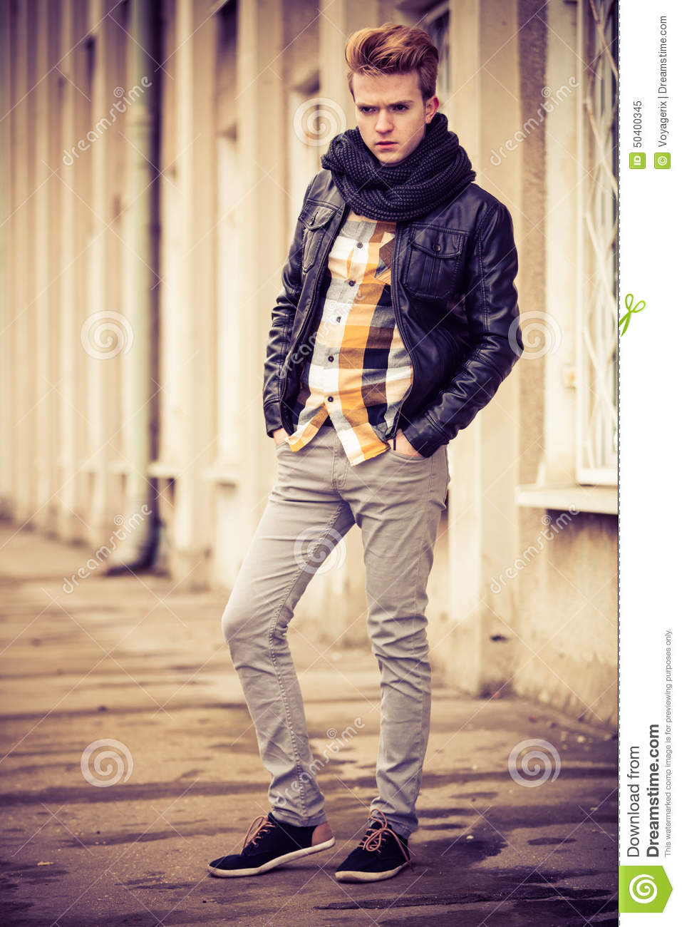 Handsome Fashionable Man Outdoor Stock Image Image 50400345