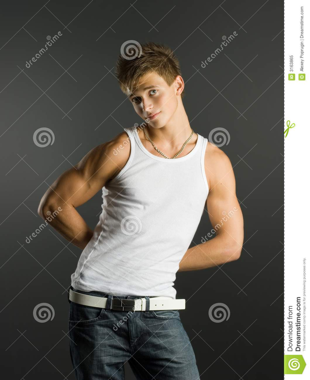 handsome friendly boy stock image image of model people