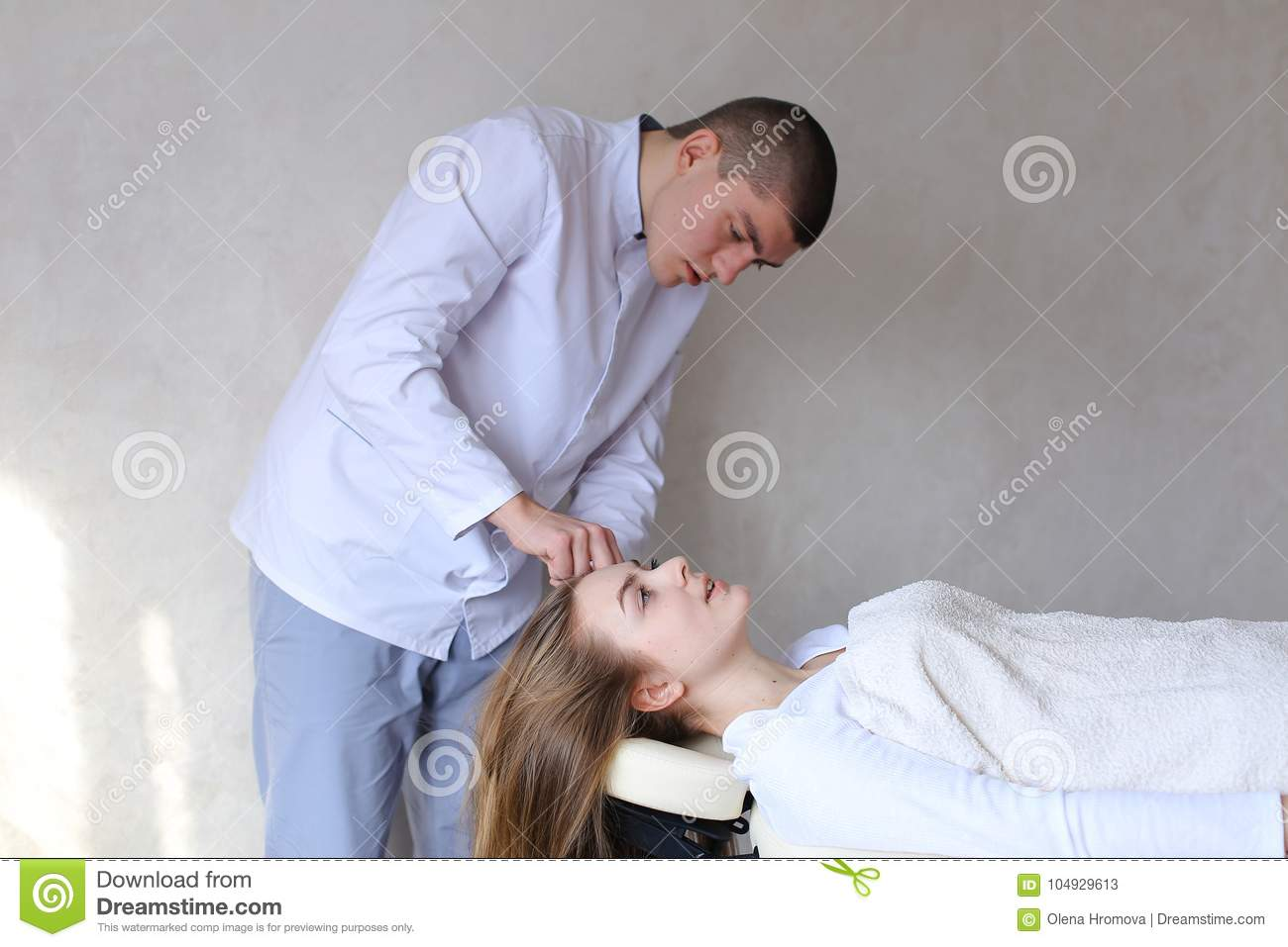 girl gives girl a massage