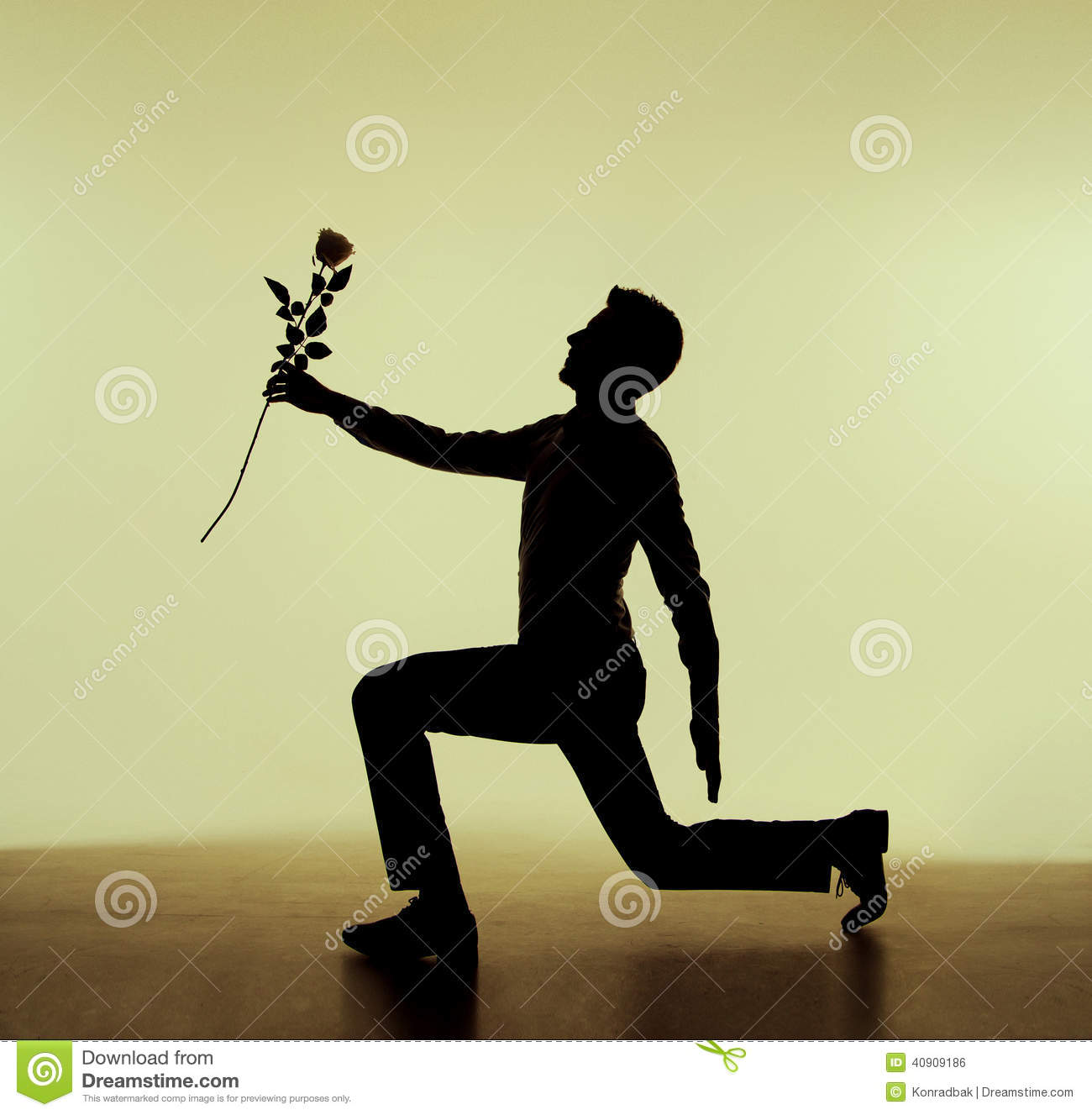 Handsome Guy Proposing To His Girlfriend Stock Photo