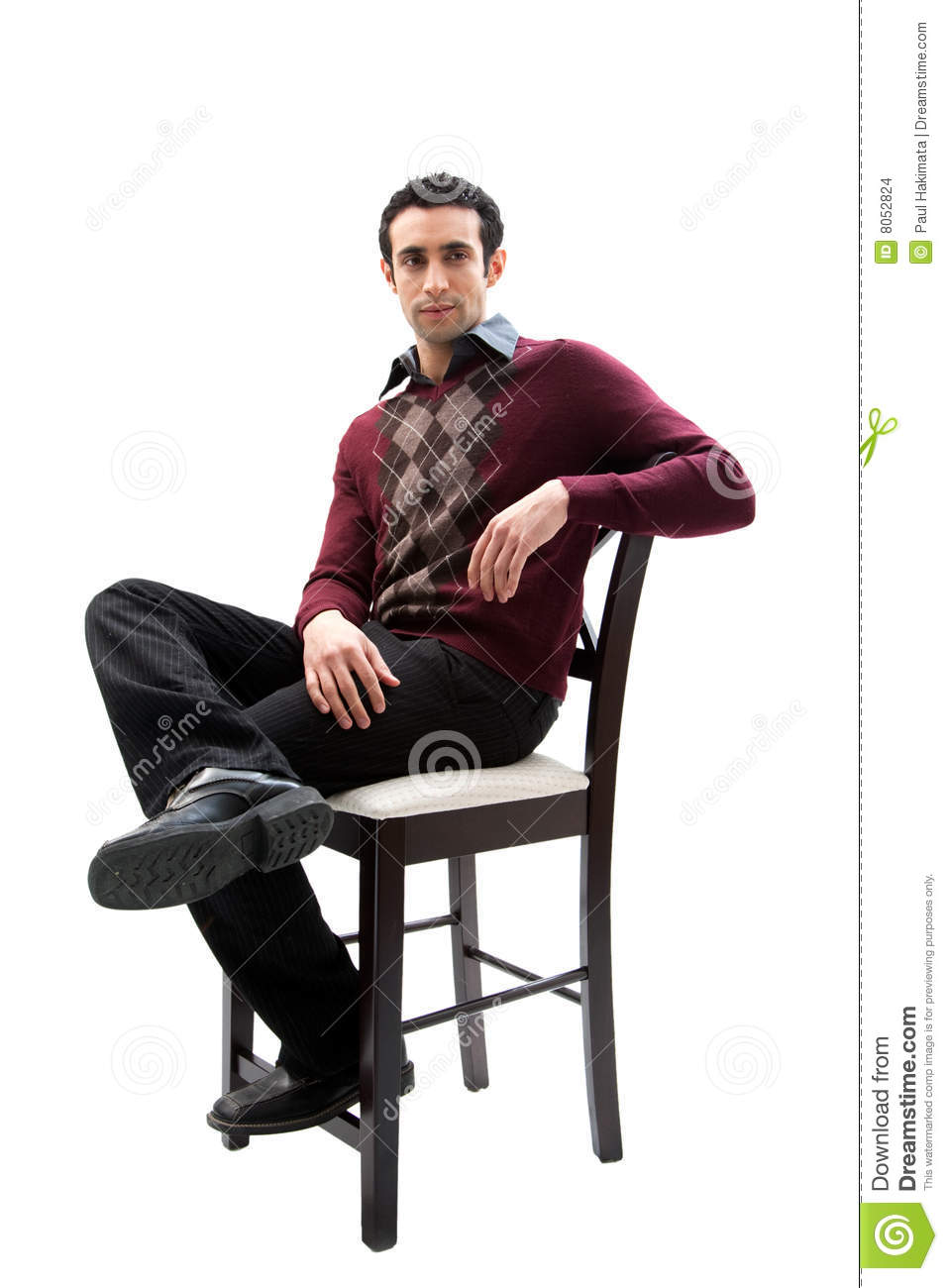 Handsome Guy Sitting On Chair Stock Images Image 8052824