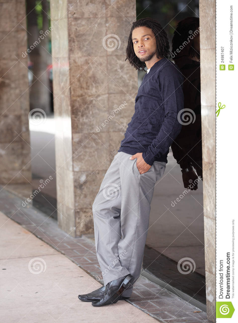 Handsome Jamaican Man In The City Stock Image Image