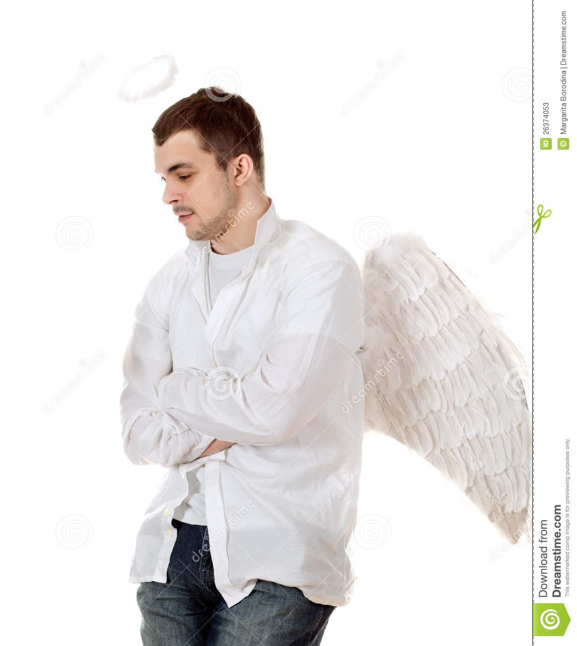 Handsome Male Angel. Stock Photos