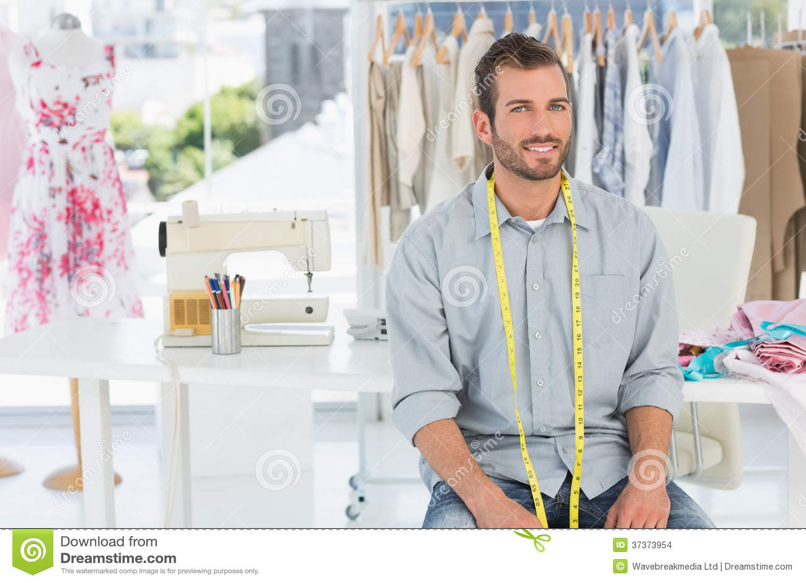 Handsome Male Fashion Designer In Studio Stock Images - Image ...