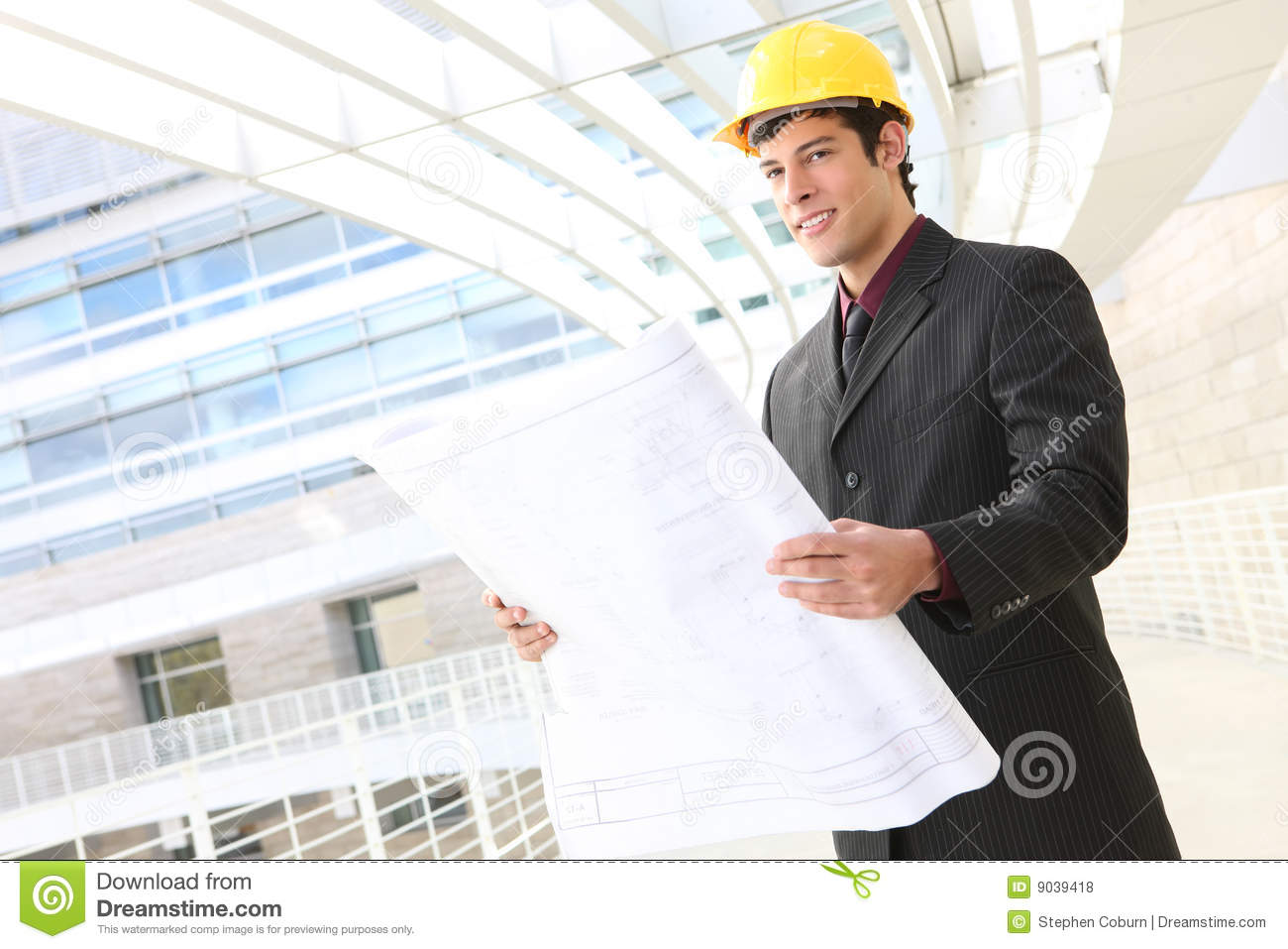 Handsome Man Architect Royalty Free Stock Photos Image