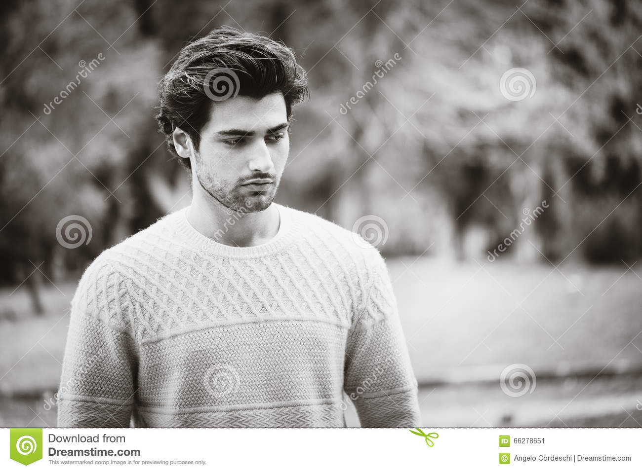 2702d44137a Handsome Man Black And White Outdoors Stock Image - Image of clothes ...