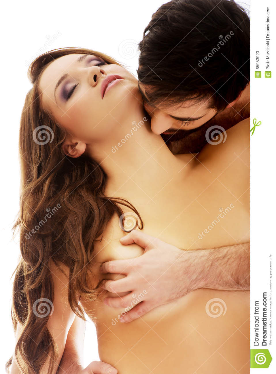 Handsome Man Kissing Womans Neck Stock Image - Image Of -9508