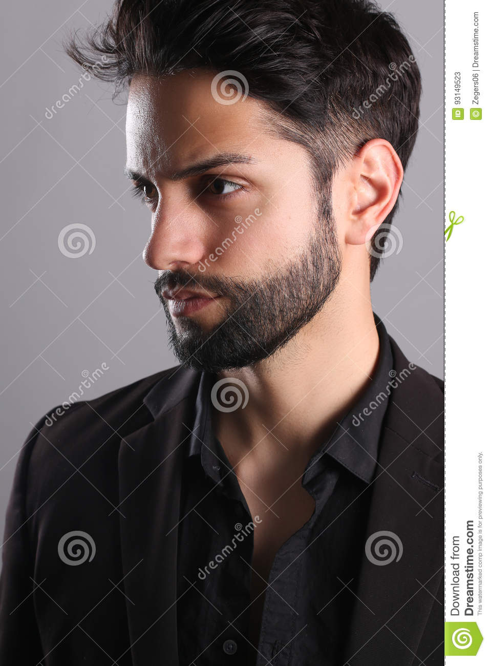 Handsome Man With A Low Fade Haircut Stock Image Image Of Fashion