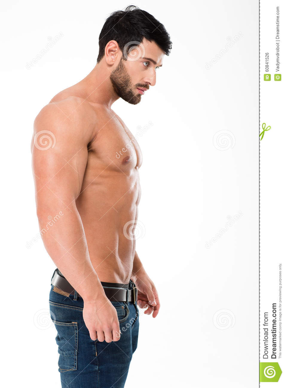 Handsome Man With Muscular Body Stock Photo Image Of Chest