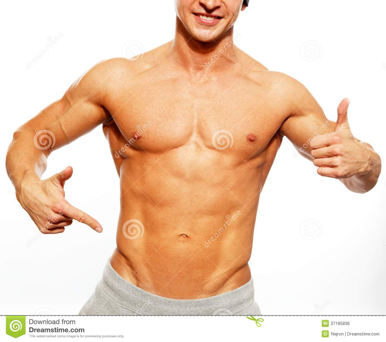Handsome Man With Muscular Body Royalty Free Stock Image ...