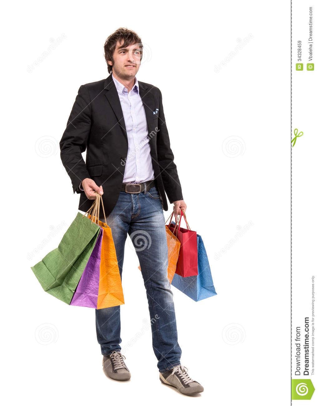Handsome Man With Shopping Bags Royalty Free Stock Images - Image ...
