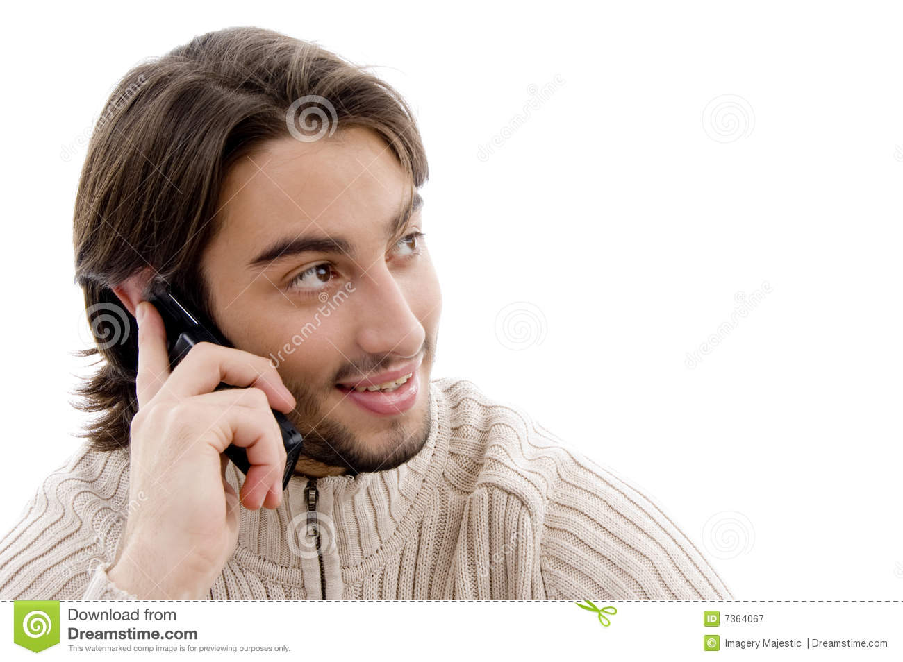Handsome Man Talking On Cell Phone Royalty Free Stock ...