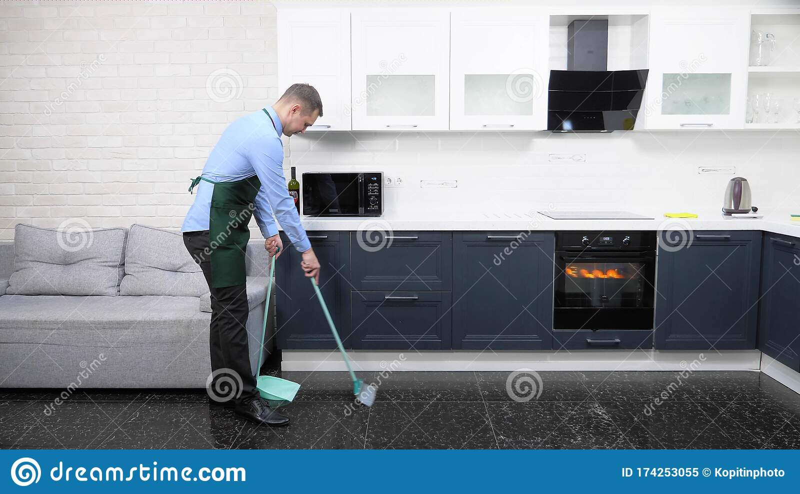 9 Sweeping Kitchen Floor Photos   Free & Royalty Free Stock ...