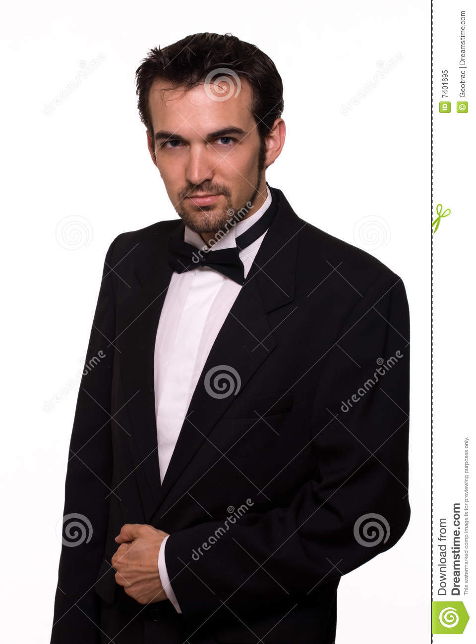 Handsome Man In Tuxedo Royalty Free Stock Photo - Image ...