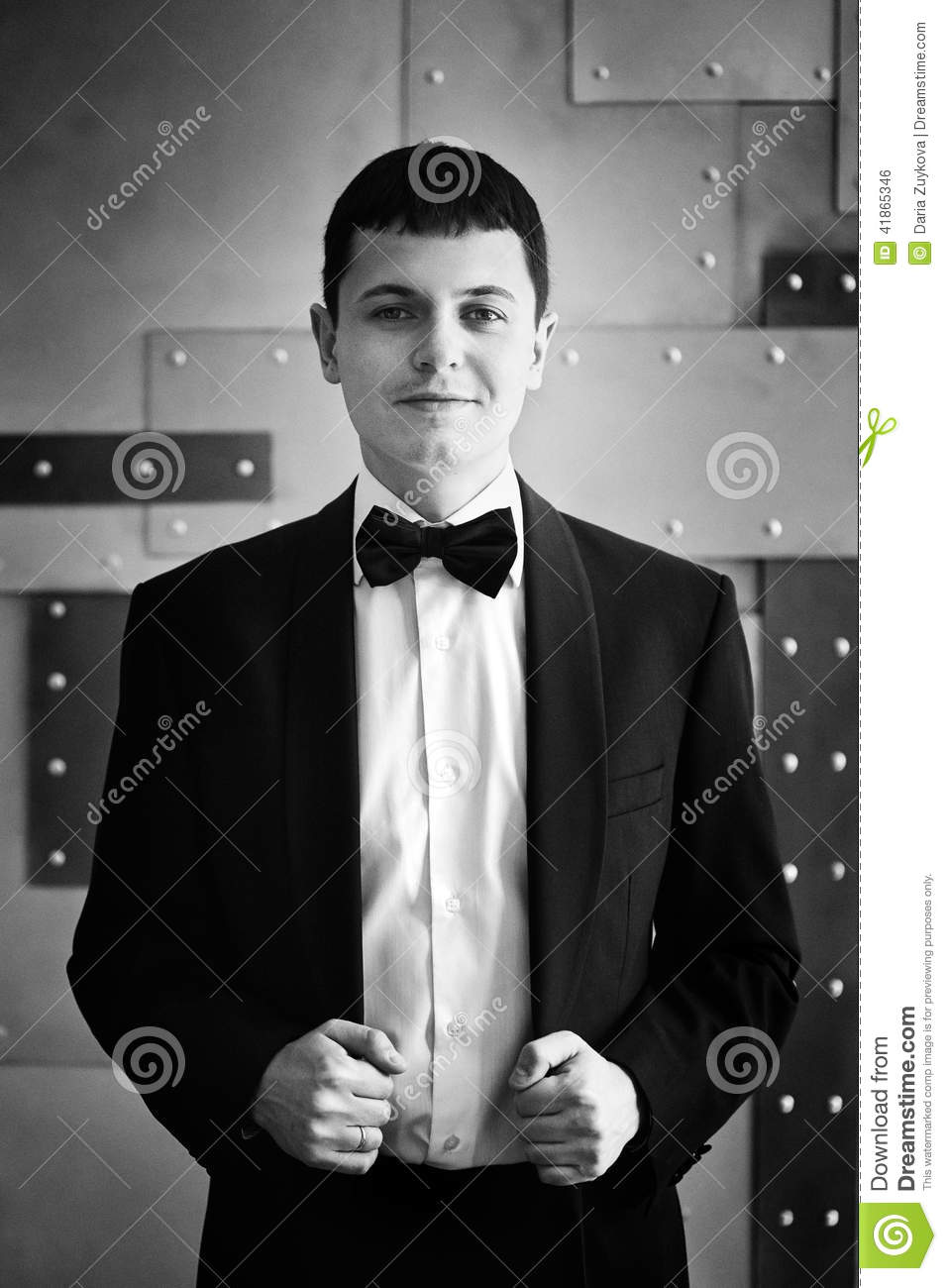 Handsome Man In Tuxedo Stock Photo - Image: 41865346