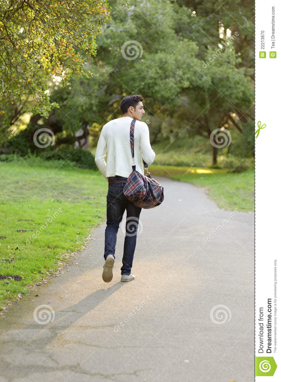 Handsome Man Walking In The Park Stock Photo Image 22213870