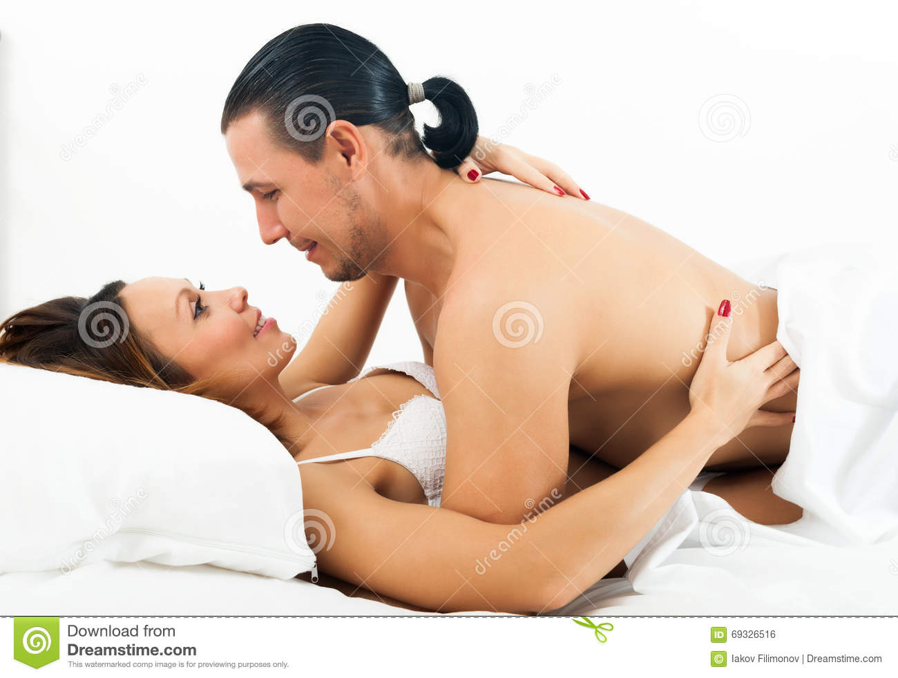 handsome man and woman having sex stock photo - image of sensual