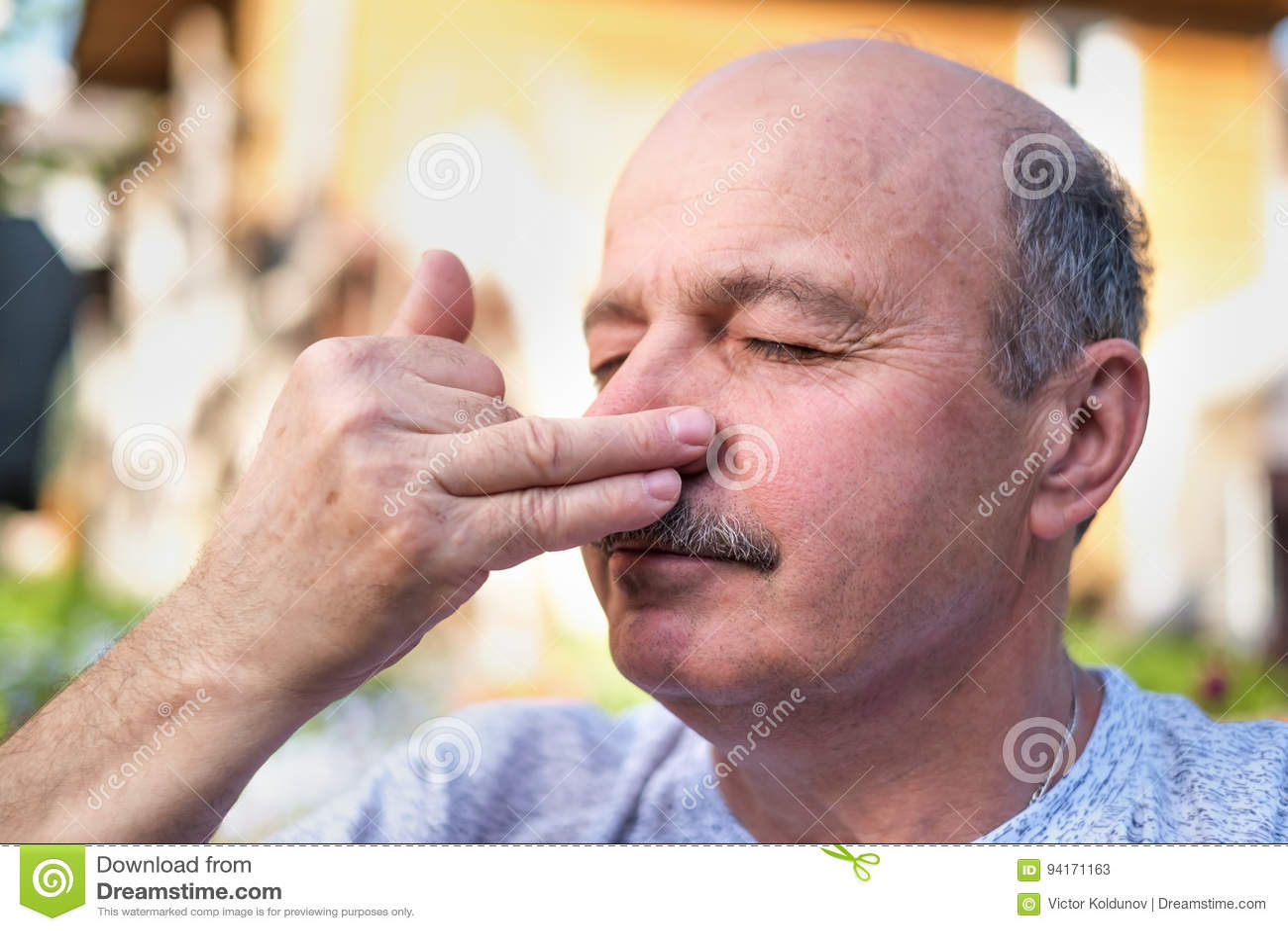 Download Handsome Mature Man Breathing Yoga Pranayama On Summer Sunny Day Outside. Stock Image - Image of caucasian, beautiful: 94171163