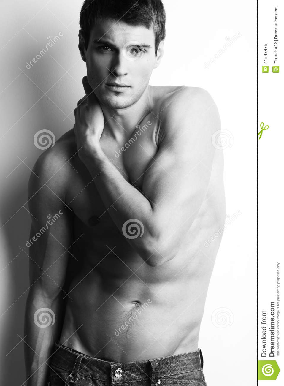 Download Handsome Muscular Guy With Naked Torso Stock Image - Image of robust, biceps: 41548435