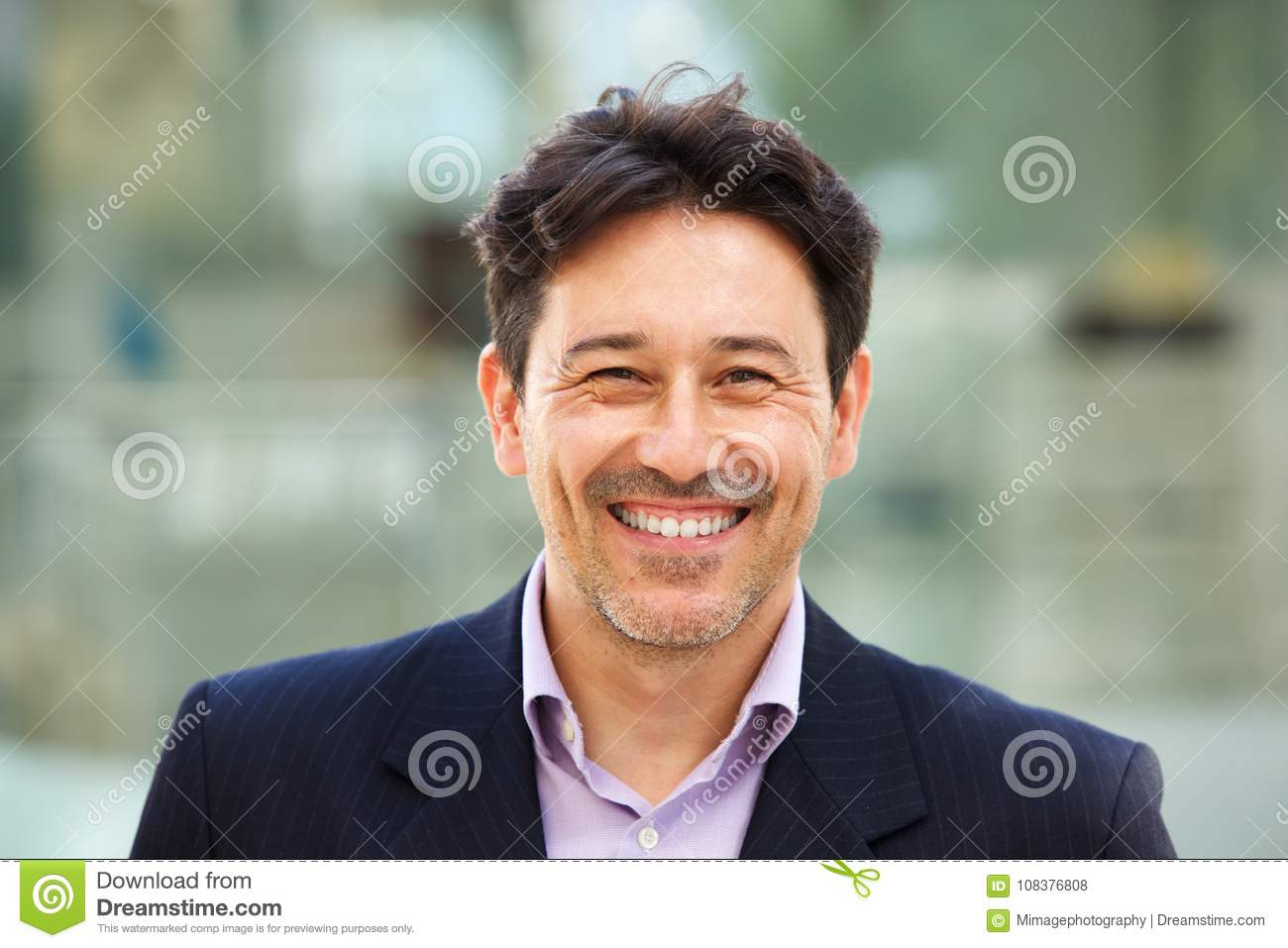 Download Handsome Older Man In Suit With Big Smile On His Face Stock Photo - Image of life, formal: 108376808