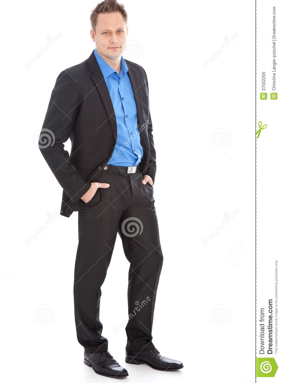 handsome relaxed young man in a suit royalty free stock