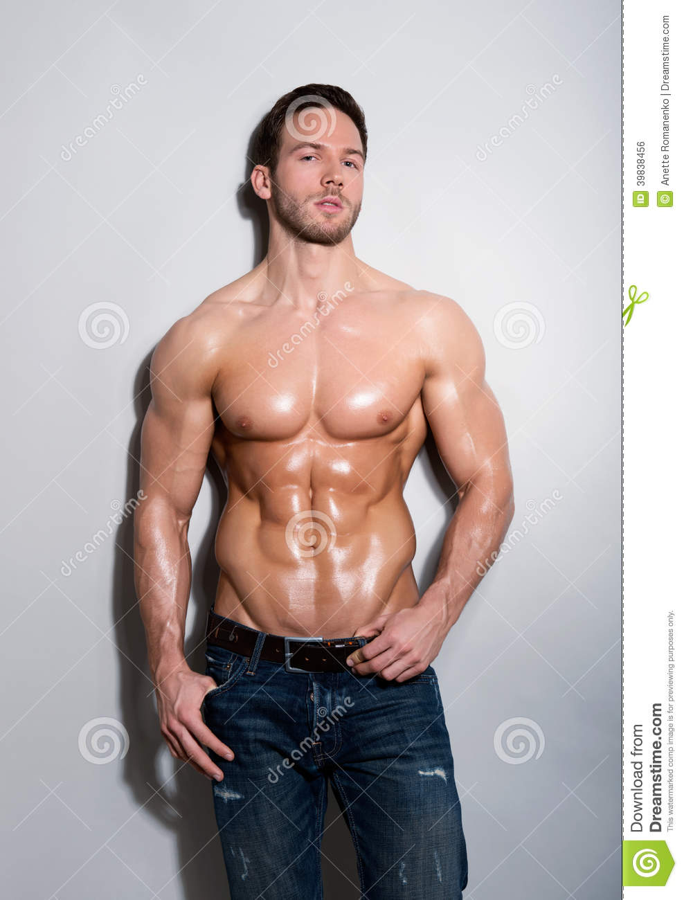 Download Handsome young man stock photo. Image of looking, athletic - 39838456