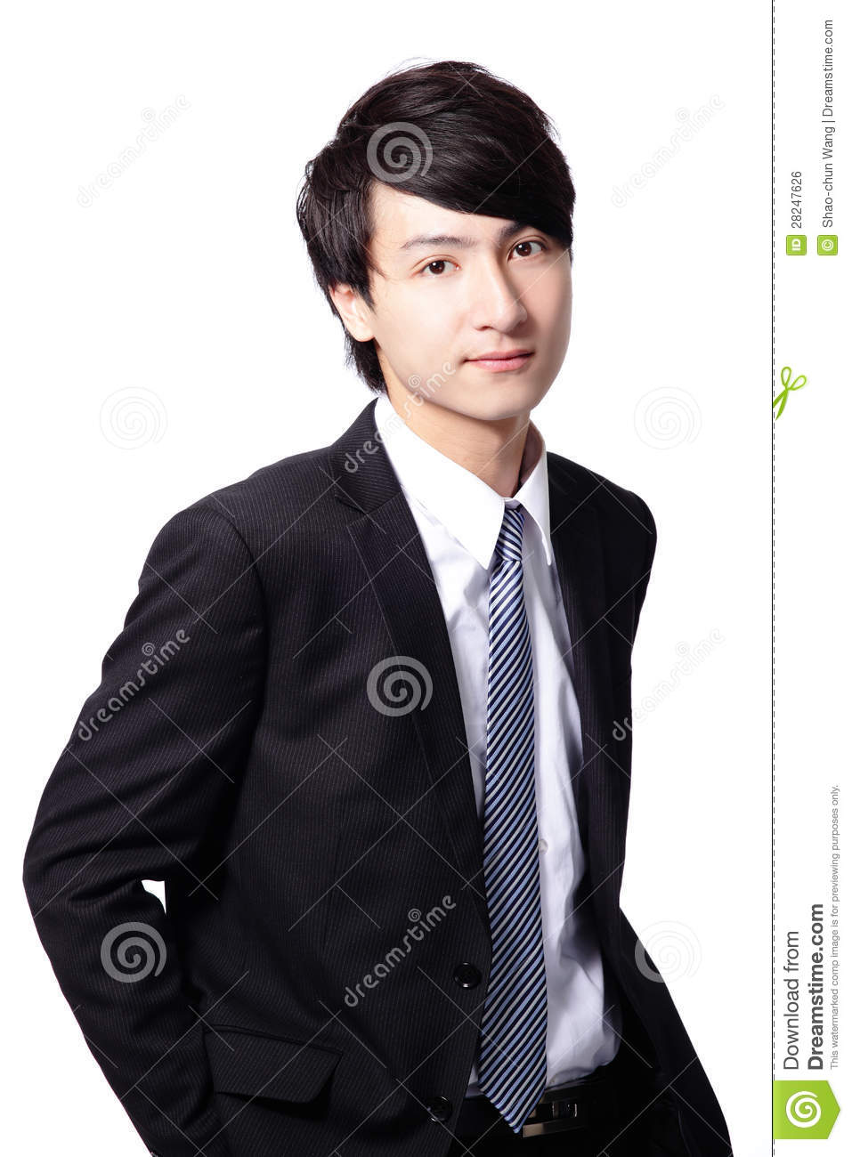 handsome smile executive business man royalty free stock