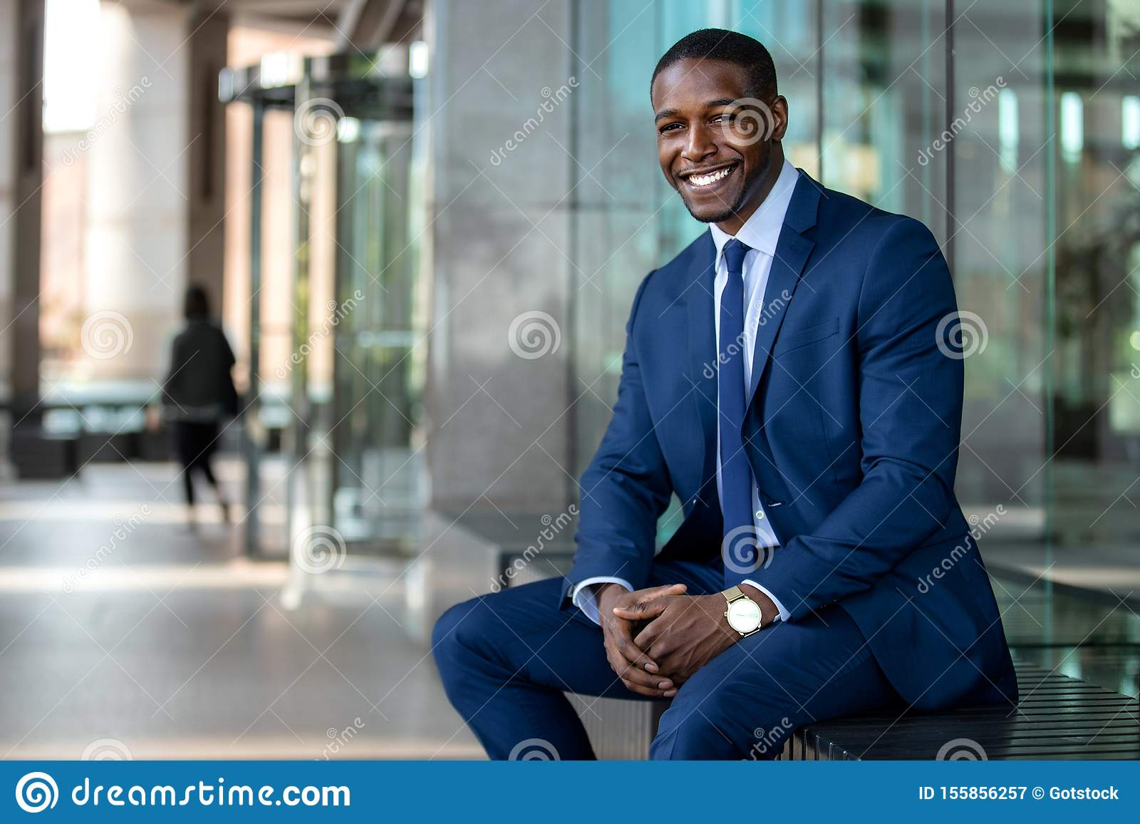 Handsome And Stylish Modern African American Business Man
