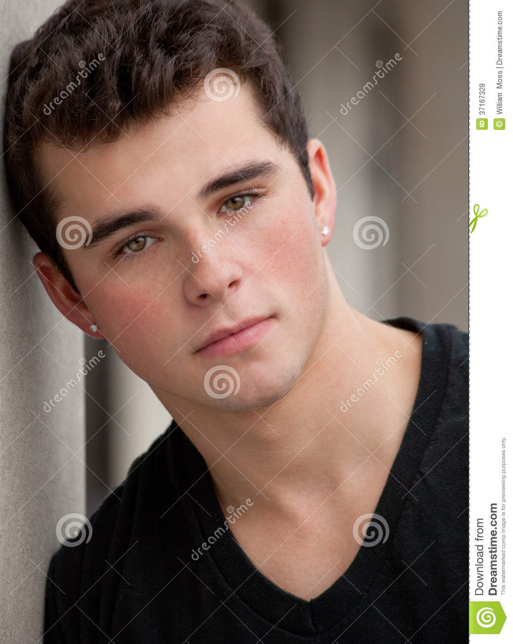 Handsome Teen Outside Stock Photo. Image Of Gorgeous