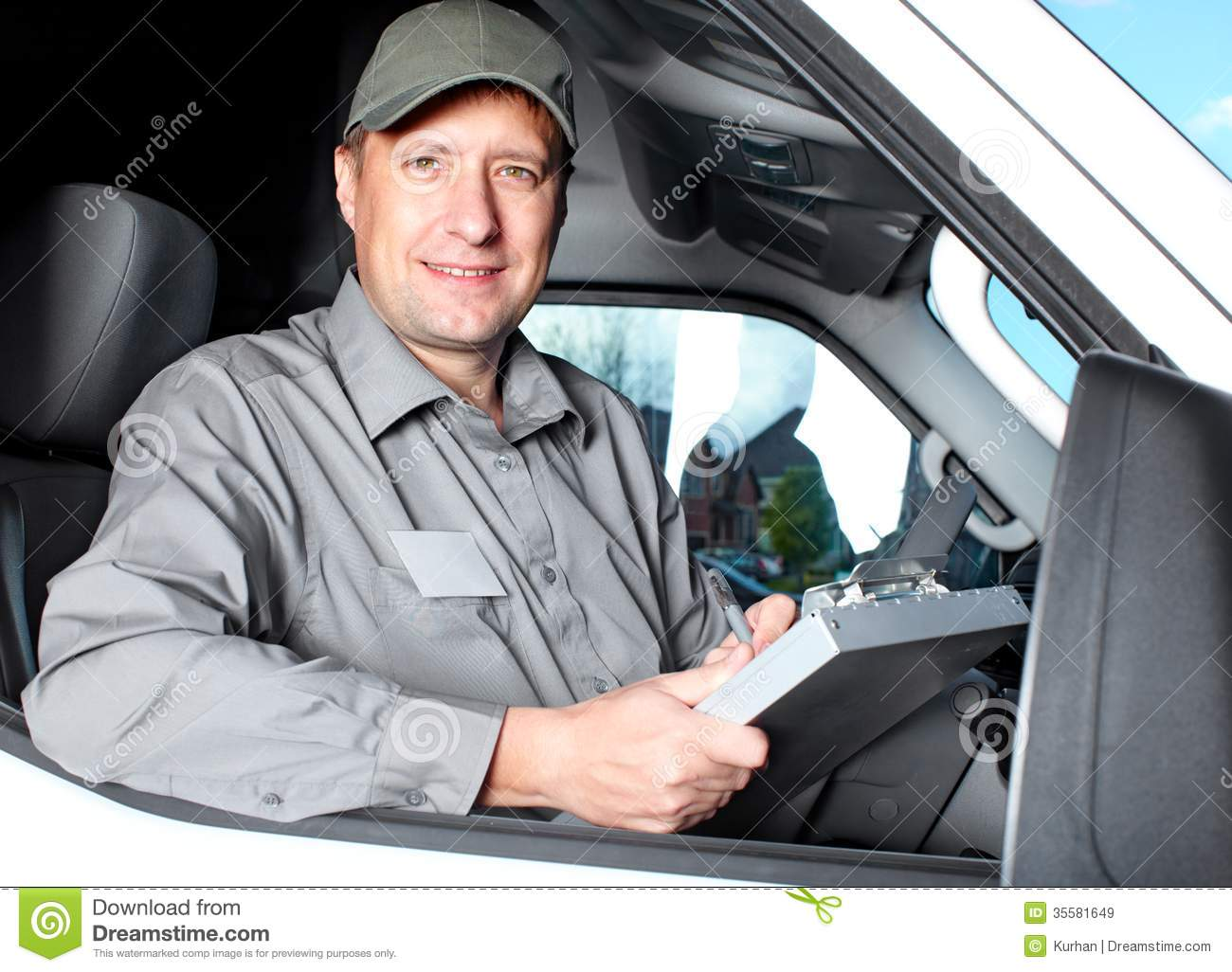 Handsome Truck Driver. Stock Photos - Image: 31414353