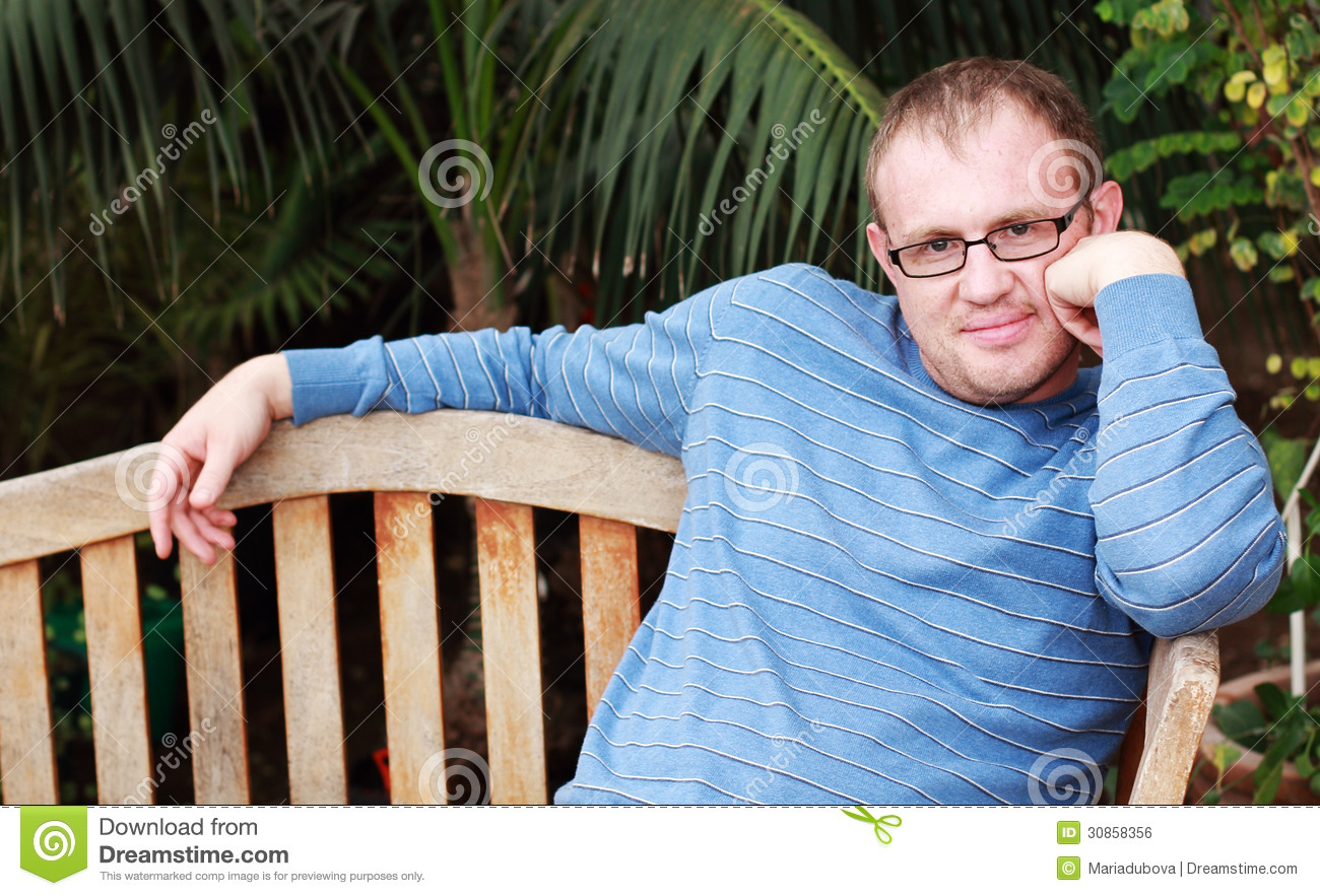 df5d5eb0697a Handsome 35 years old man stock photo. Image of grass - 30858356