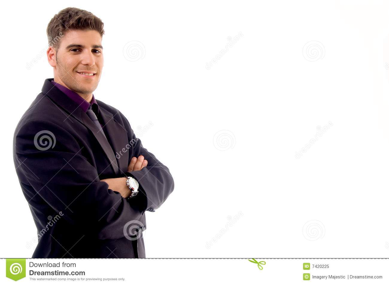 Handsome young attorney stock image. Image of clothing