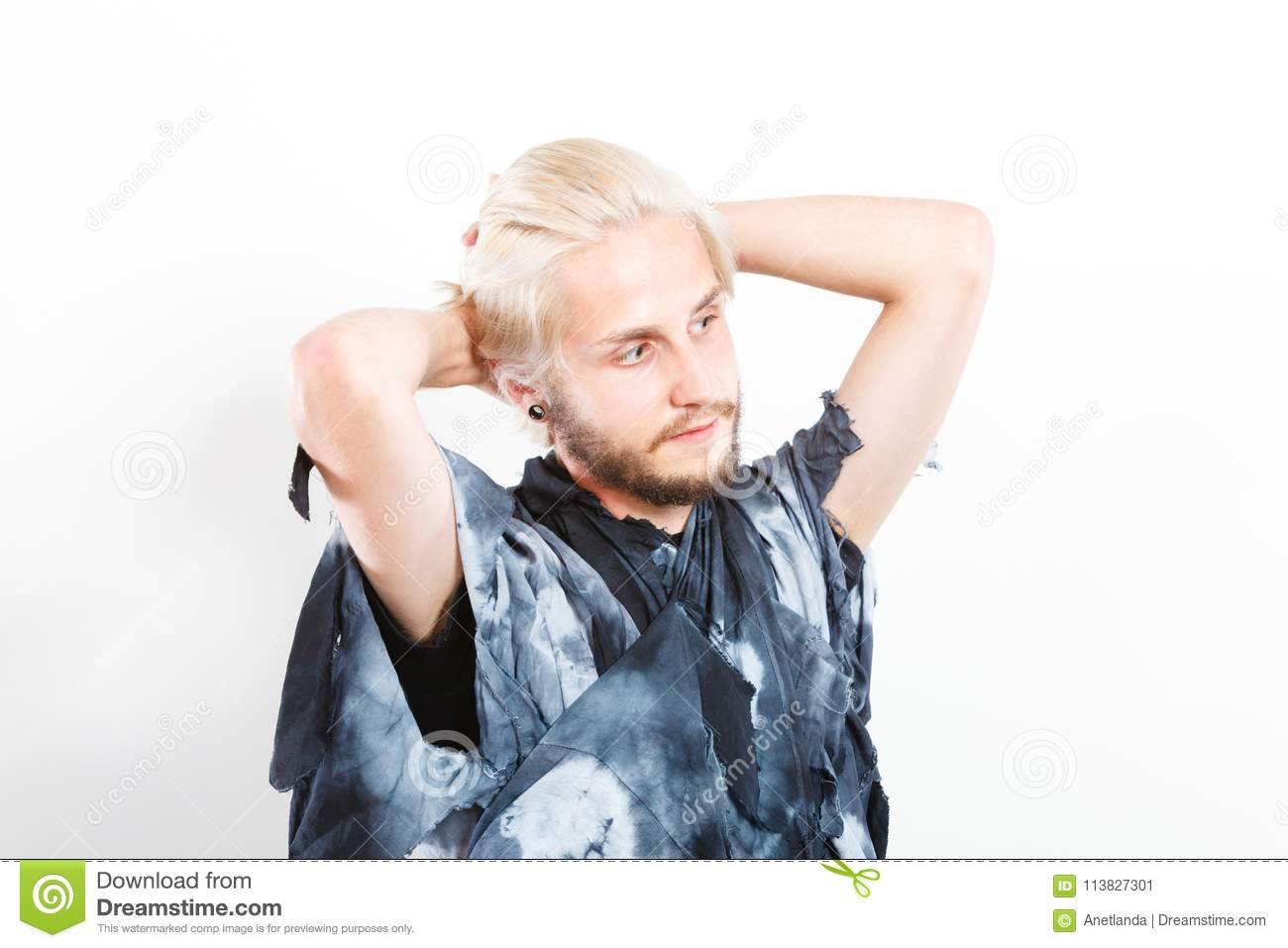 Portrait Young Man With Stylish Haircut Stock Image Image Of Cool