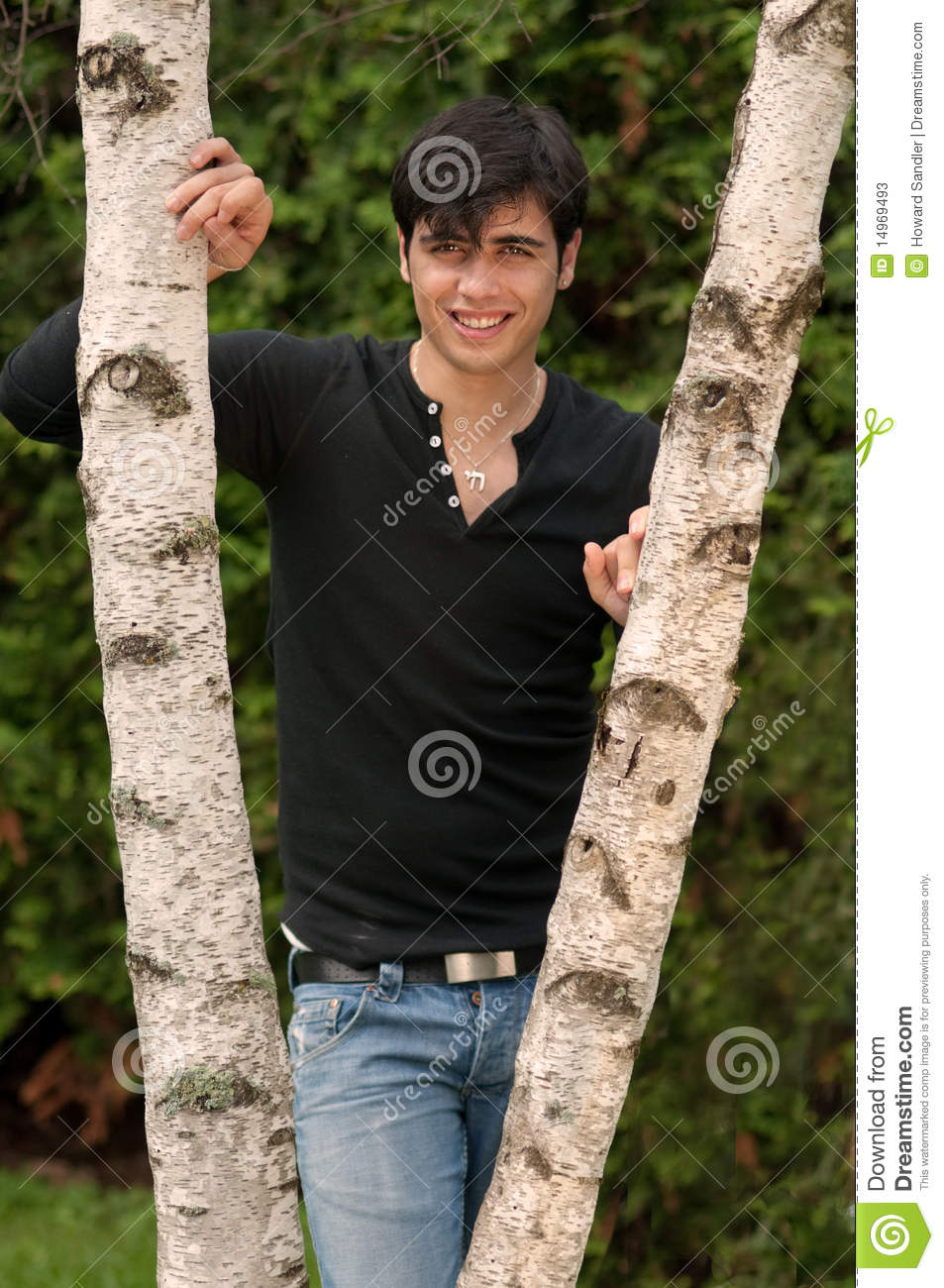 handsome young jewish man outdoors stock photos image