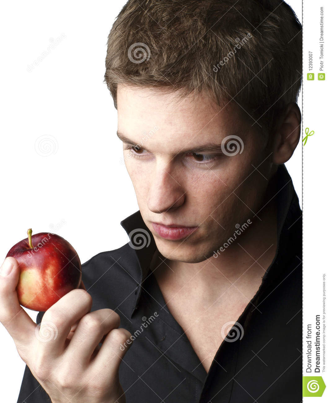 ... similar stock images of ` Handsome young male model holding an apple
