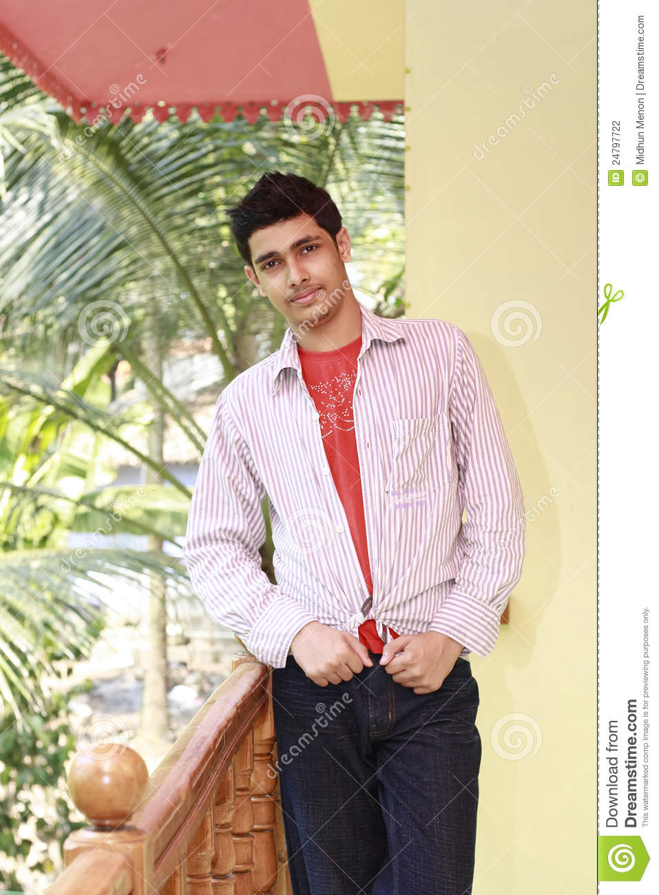 Handsome Young Man Dressed Up In Casual Dress Stock