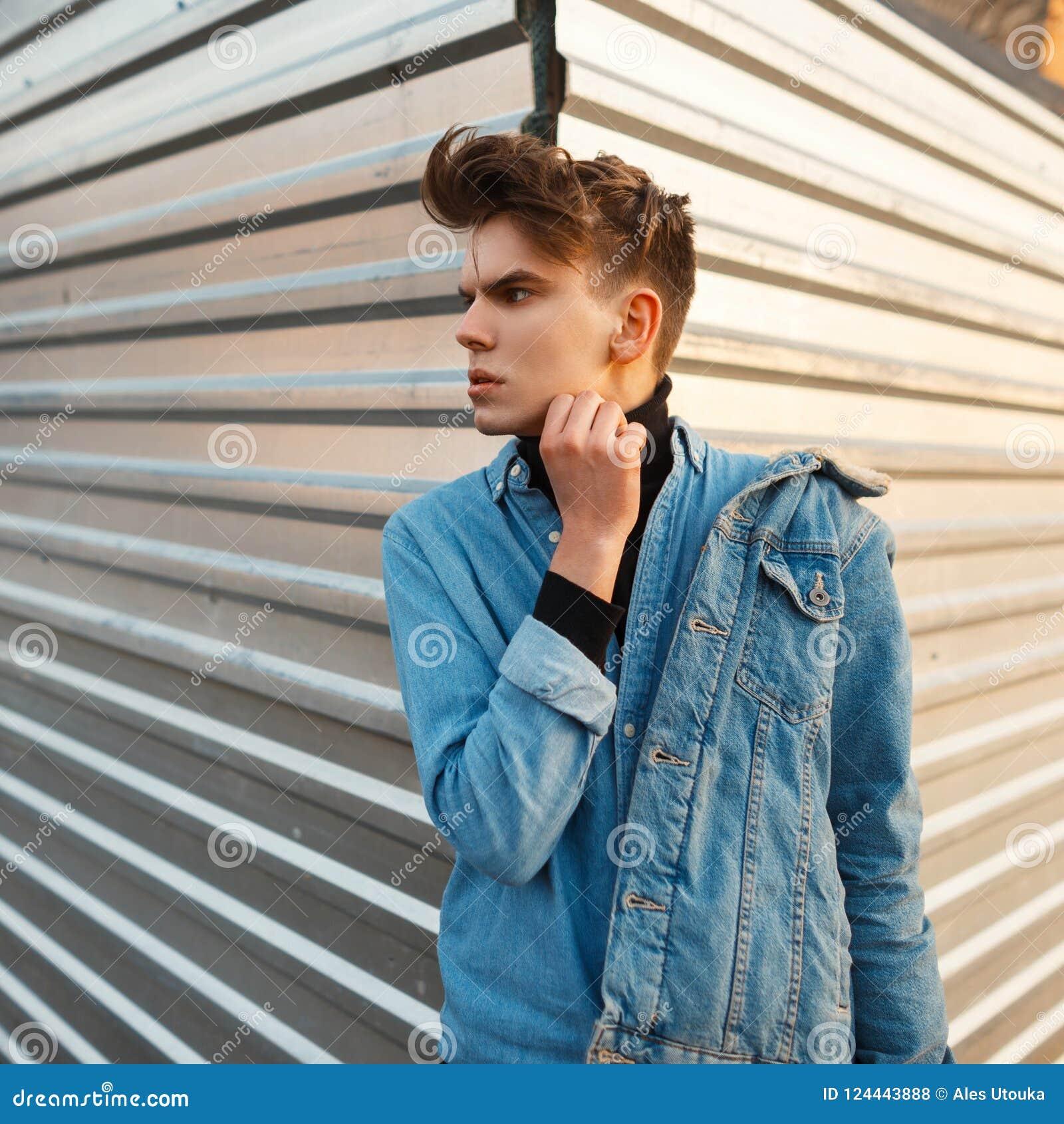 Jean Jacket Black Shirt