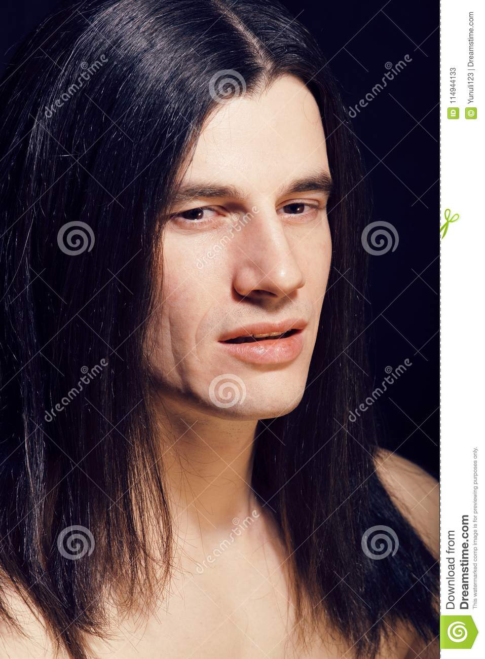 Young Guy Long Hair Naked Stock Photos - Royalty Free Pictures-4273