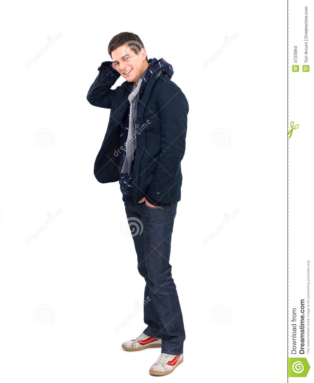 Handsome Young Man Posing In Casual Clothes Stock Photo ...